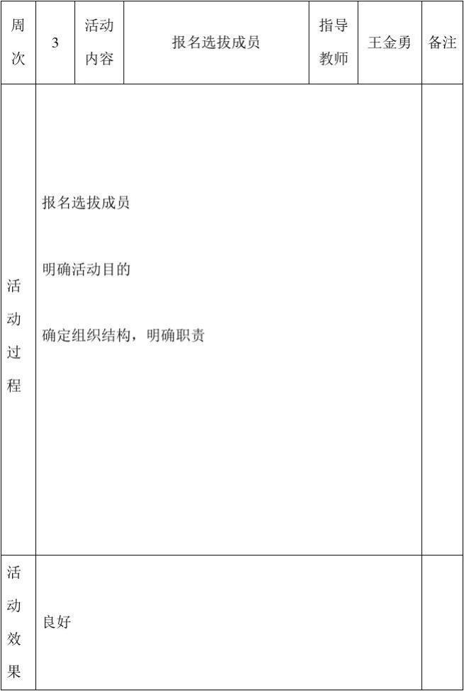 新苑文学社活动记录表