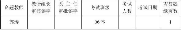 2011-2012学年度第二学期期末考试题B