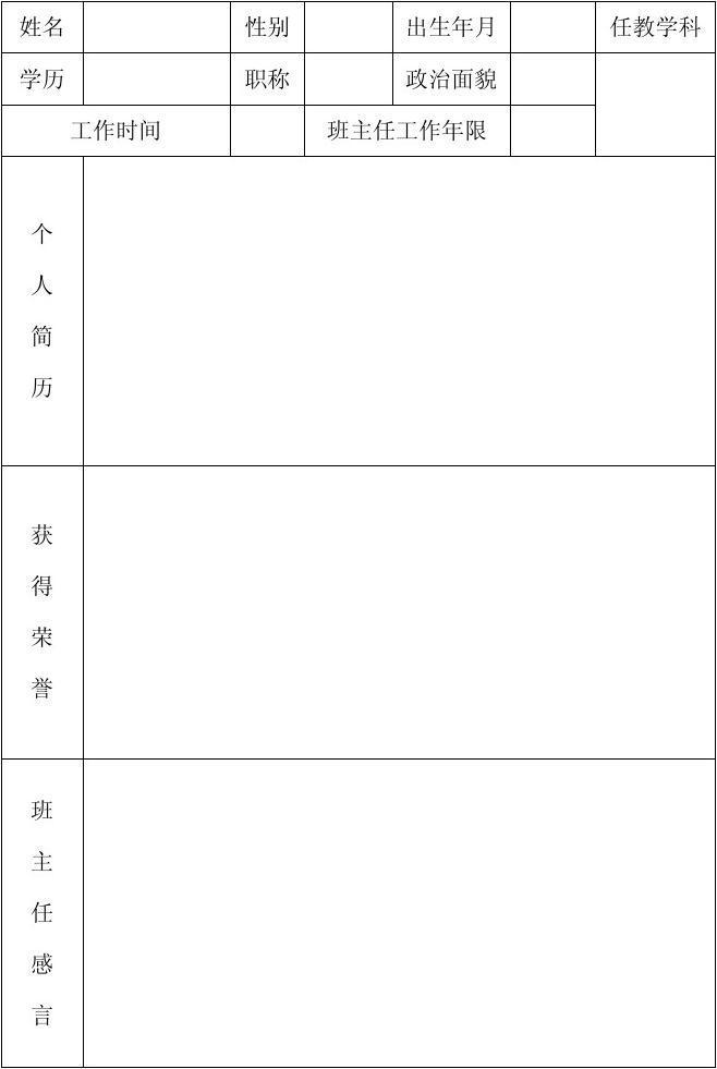 赣榆县罗阳镇朱庄小学班主任档案