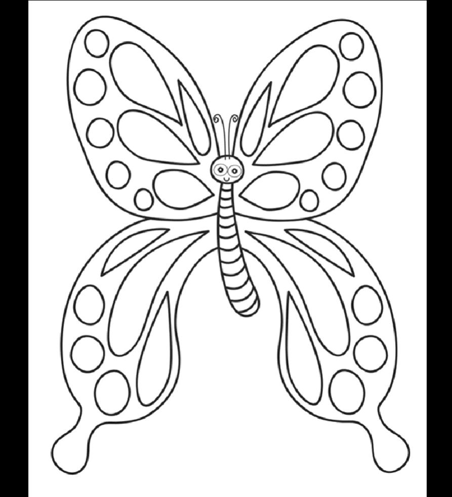可爱蝴蝶幼儿儿童简单涂色填色,发挥想象力,已排版,可直接打印