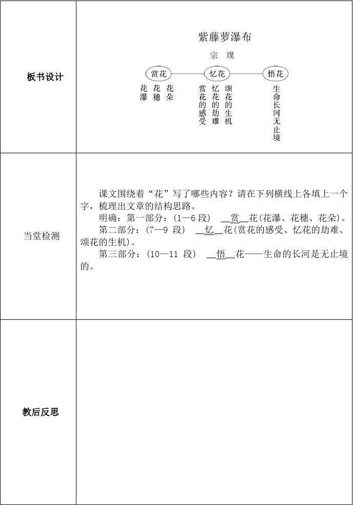第17课紫藤萝瀑布第一下册教学设计四数课时对称轴的说课稿图片