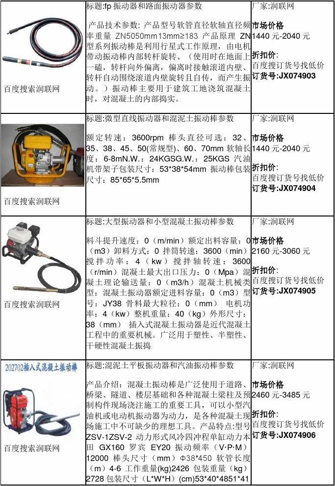 活塞式振动器和220v混凝土振动棒价格