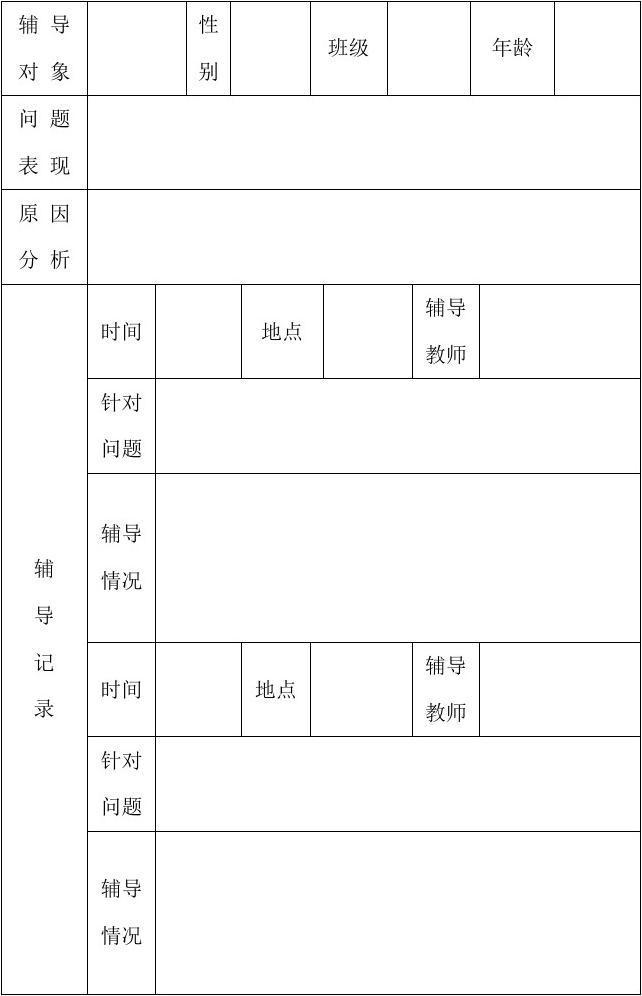小学生心理健康辅导幕府教育小学表南京档案个案图片