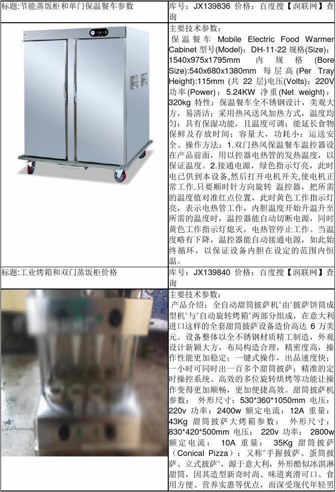 米饭蒸饭柜和单门电蒸饭柜价格