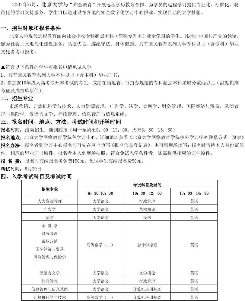北京大学现代远程教育